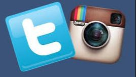 Twitter and Instagram logo